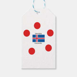De Vlag van IJsland en het Ijslandse Ontwerp van Cadeaulabel