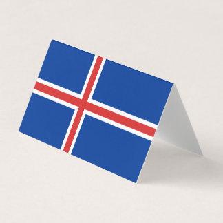 De Vlag van IJsland Plaatskaart