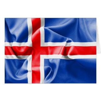 De Vlag van IJsland Wenskaart