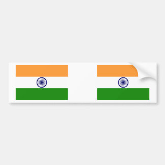 De Vlag van India Bumpersticker