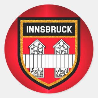 De Vlag van Innsbruck Ronde Sticker