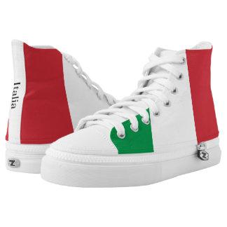 De vlag van Italië High Top Schoenen