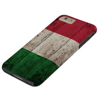 De Vlag van Italië op Oude Houten Korrel Tough iPhone 6 Plus Hoesje