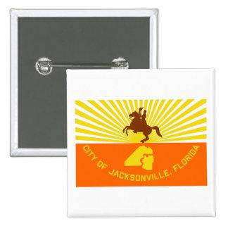 De Vlag van Jacksonville Speldbuttons