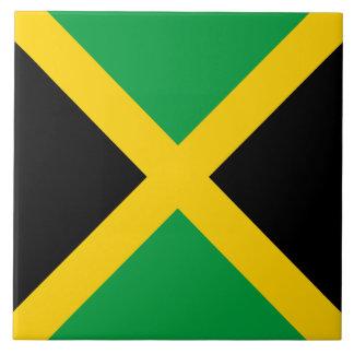 De Vlag van Jamaïca Tegeltje Vierkant Large
