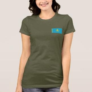 De Vlag van Kazachstan en DKT-shirt van de Kaart T Shirt