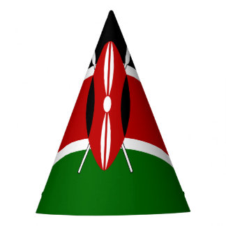 De Vlag van Kenia Feesthoedjes