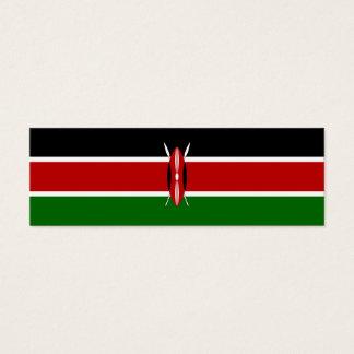 De Vlag van Kenia Mini Visitekaartjes