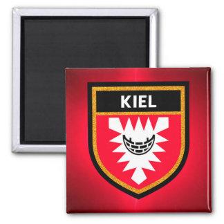 De Vlag van Kiel Vierkante Magneet