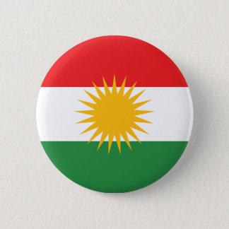 De Vlag van Koerdistan Ronde Button 5,7 Cm