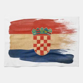De Vlag van Kroatië Theedoek