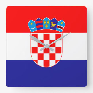 De Vlag van Kroatië Vierkante Klok