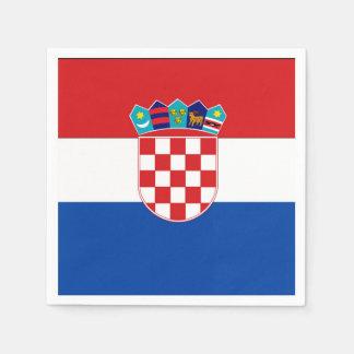 De Vlag van Kroatië Wegwerp Servet