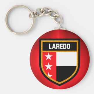 De Vlag van Laredo Basic Ronde Button Sleutelhanger