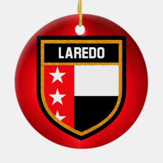 De Vlag van Laredo Rond Keramisch Ornament