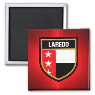 De Vlag van Laredo Vierkante Magneet
