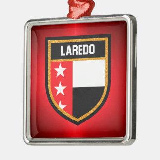 De Vlag van Laredo Zilverkleurig Vierkant Ornament