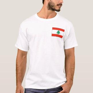 De Vlag van Libanon en de T-shirt van de Kaart