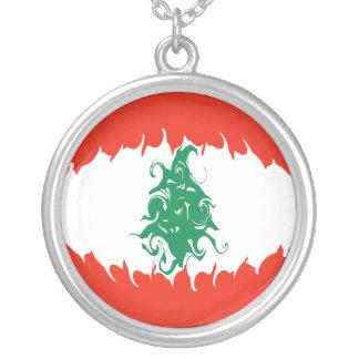 De Vlag van Libanon Gnarly Zilver Vergulden Ketting