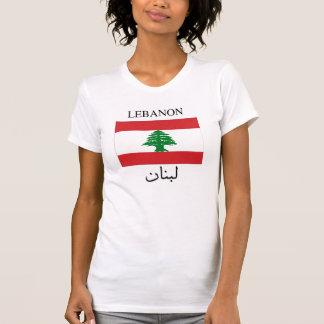 De Vlag van Libanon - het Engels en Arabisch T-shirts