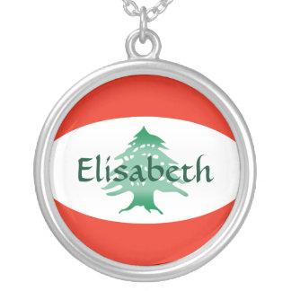 De Vlag van Libanon + Het Ketting van de naam