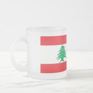 De Vlag van Libanon Matglas Koffiemok