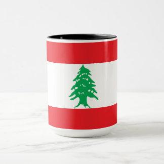 De Vlag van Libanon Mok