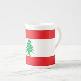 De Vlag van Libanon Theekop