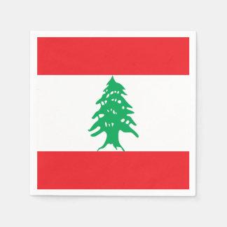 De Vlag van Libanon Wegwerp Servetten