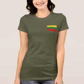 De Vlag van Litouwen en DKT-shirt van de Kaart T Shirt