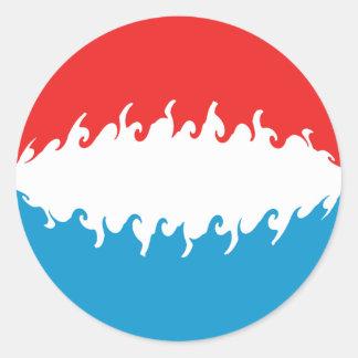 De Vlag van Luxemburg Gnarly Ronde Sticker