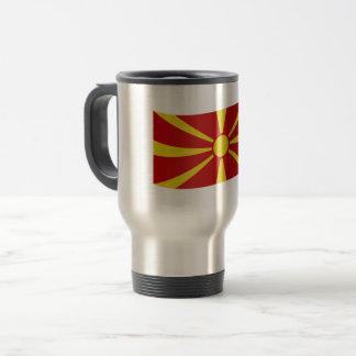 De Vlag van Macedonië Reisbeker