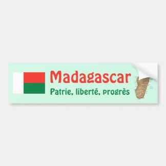 De Vlag van Madagascar + De Sticker van de Bumper