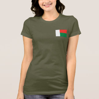 De Vlag van Madagascar en DKT-shirt van de Kaart T Shirt