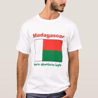 De Vlag van Madagascar + Kaart + De T-shirt van de