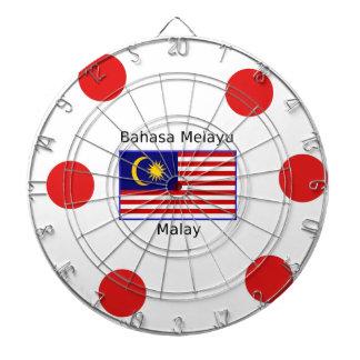 De Vlag van Maleisië en het Maleise Ontwerp van de Dartbord