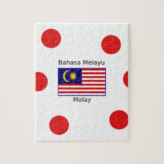 De Vlag van Maleisië en het Maleise Ontwerp van de Legpuzzel