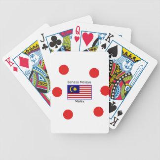 De Vlag van Maleisië en het Maleise Ontwerp van de Poker Kaarten