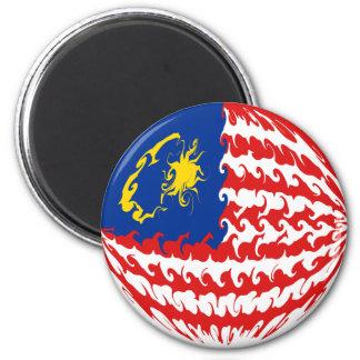 De Vlag van Maleisië Gnarly Magneet