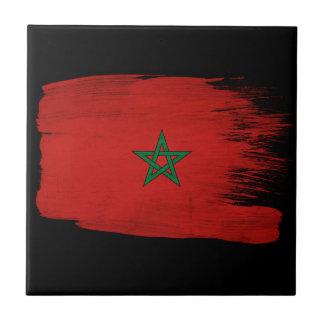De Vlag van Marokko Keramisch Tegeltje