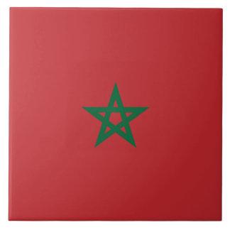 De Vlag van Marokko Tegeltje
