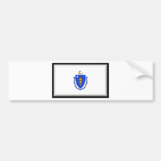 De Vlag van Massachusetts Bumpersticker