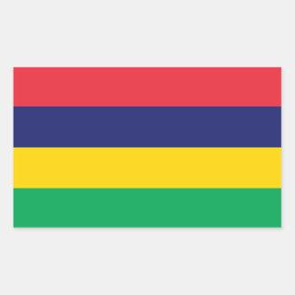 De Vlag van Mauritius Rechthoekige Sticker