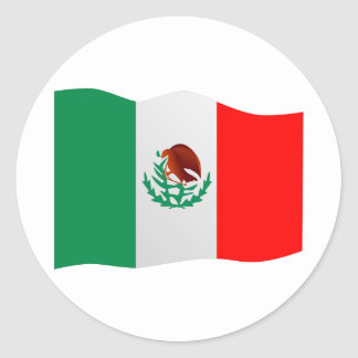 De Vlag van Mexico Ronde Sticker