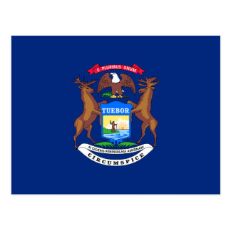 De Vlag van Michigan Briefkaart