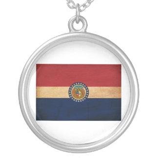 De Vlag van Missouri Zilver Vergulden Ketting