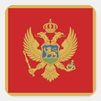 De vlag van Montenegro Vierkante Sticker