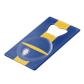 De Vlag van Nauru Creditkaart Flessenopener