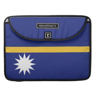 De Vlag van Nauru Sleeve Voor MacBooks