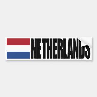 De Vlag van Nederland Bumpersticker